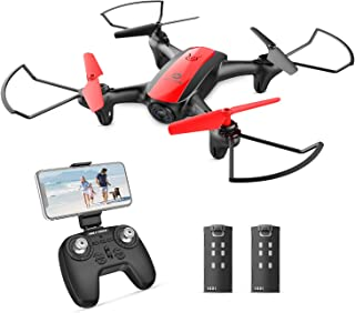 Holy Stone HS370 FPV Drone with Camera for Kids and Adults 720P HD WiFi Transmission, RC Quadcopter for Beginners with Altitude Hold, One Key Start/Land, Draw Path, 3D Flips 2 Modular Batteries