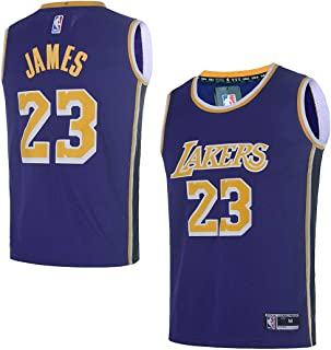 fe5270d3 OuterStuff Youth Los Angeles Lakers #23 LeBron James Kids Basketball Jersey