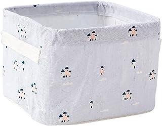 Parshall Boîtes de rangement pliantes en coton et lin avec poignées pour ranger les jouets, style 4