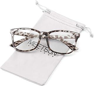 MEETSUN Blue Light Blocking Glasses, Anti Eye Strain Headache (Sleep Better),Computer Reading Glasses UV400 Transparent Le...