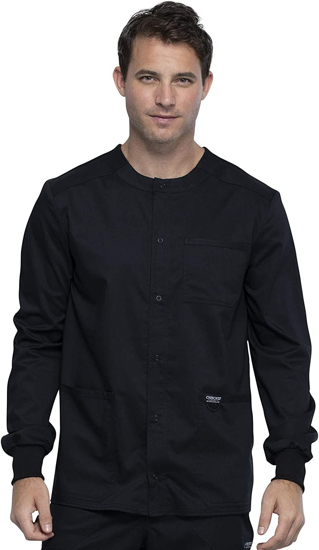 Workwear Revolution Luxury Baltimore Mall goods Men Warm Up Scrubs Front Snap Jacket WW380