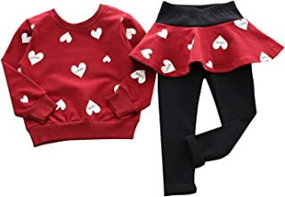 Adorable Toddler Baby Girls Clothes Set Long Sleeve T-Shirt and Pants Outfit Fall Clothes