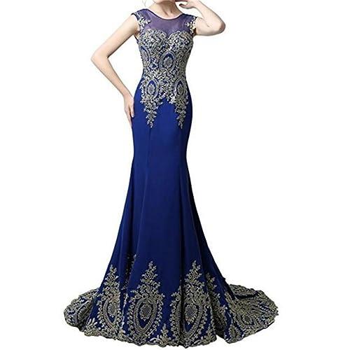 2bd94479d4b7 Dydsz Long Evening Dresses for Women Formal Prom Dress Mermaid Beaded  Appliques D86