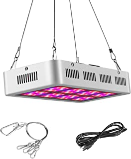 JOMITOP Grow Light Fixture 300W LED Plant Grow Light White Full Spectrum for Indoor Plants Hydroponic Garden and Greenhouse AC85-265V