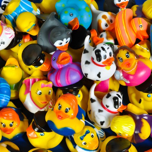 Lot of 50 Assorted Rubber Ducks [Toy] by Rhode Island Novelty