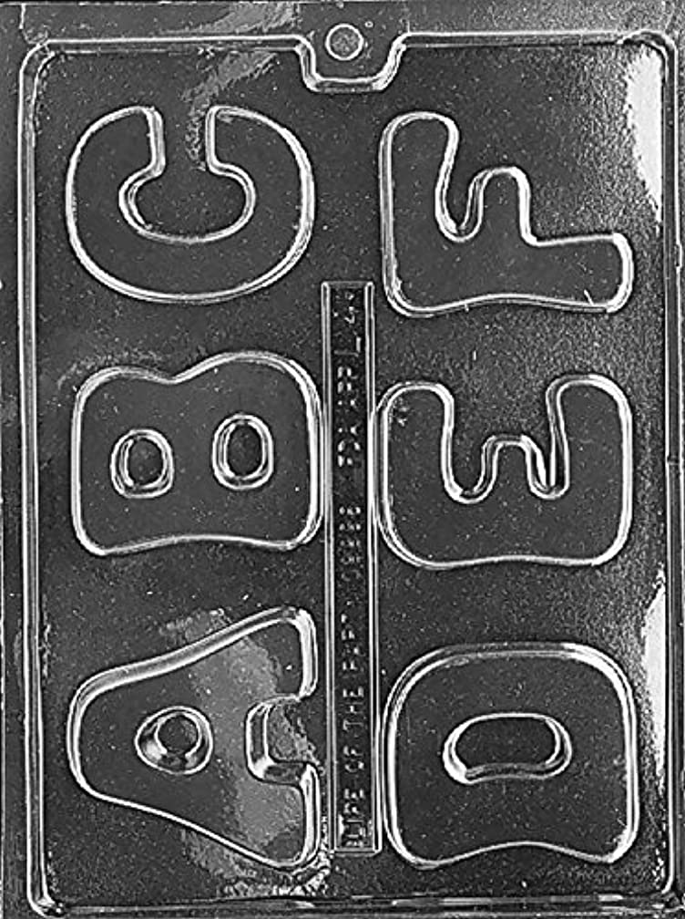 CybrTrayd L004 Letters A to F Soap Mold with Exclusive Cybrtrayd Copyrighted Soap Molding Instructions