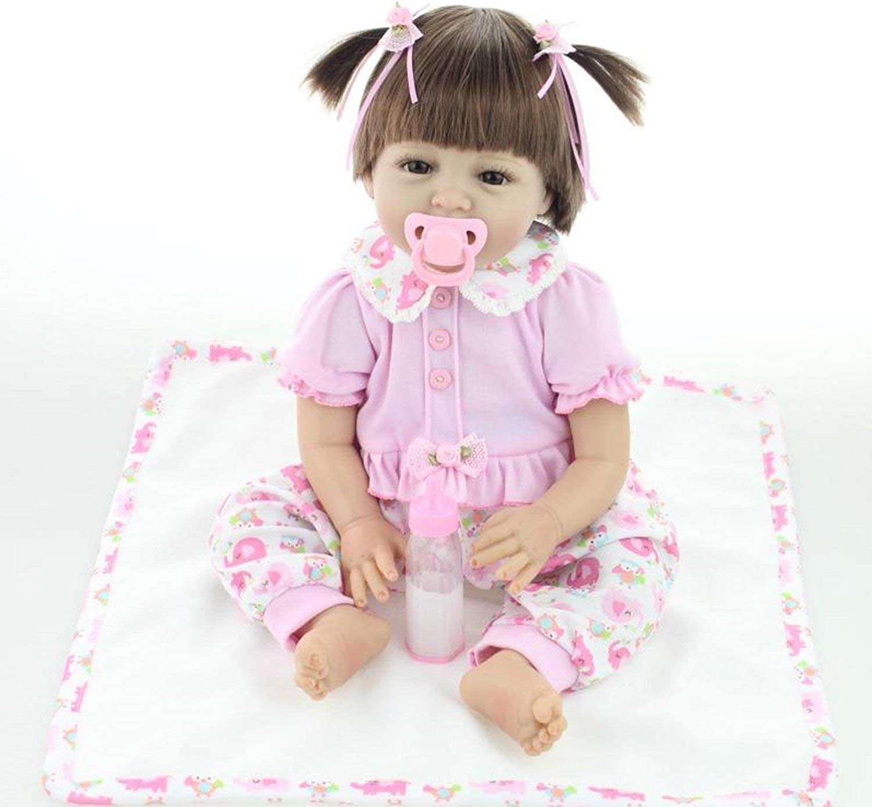 servicio honesto ZIYIUI 55 CM muñecas realistas muñecas Hechas Hechas Hechas a Mano renacer Suave de Silicona muñeca de Vinilo de Juguete Regalo de cumpleaños de niña Regalo  calidad auténtica
