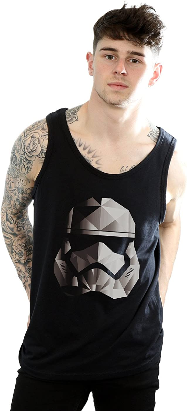 STAR WARS Men's The Last New life Sale Special Price Jedi Ta Helmet Mono Stormtrooper Cubist
