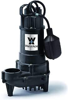 WaterAce WA75CSW Sump Pump, 3/4 HP, Black