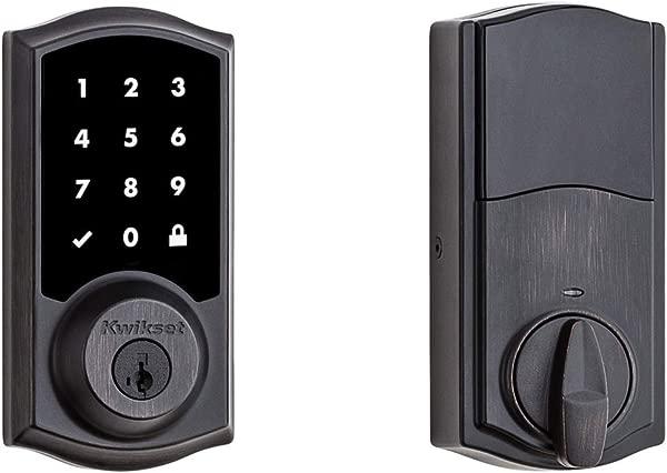 Kwikset 99150 803 SmartCode 915 触摸屏翻新电子插销更新威尼斯青铜