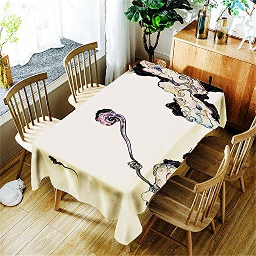 JIAO Mantel rectangular de poliéster para mesa de estilo nórdico simple, poliéster, fácil de limpiar, mantel de picnic, anticaliente, antiestático, multidimensional (color: B, tamaño: 150 x 300 cm)
