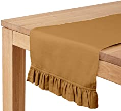 Vargottam Light Brown Home Décor Stylish Wedding Party Holiday Table Setting Décor Table Runner-14 x 120 Inch