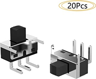 DIYhz 20Pcs High Knob 3 Pin 2 Position SPDT Right Angle Slide Switch Miniature Slide Switch
