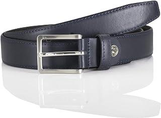 LINDENMANN LM leather belt for men leather belt made of cow leather, 30 mm wide and 3,8 mm strong, adjustable, belt, leath...
