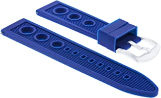 20MM RUBBER RACING WATCH BAND STRAP FOR BREITLING PILOT CHRONOMAT BLUE #9R