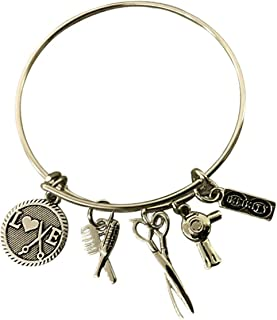 Hairdresser Jewelry, Hair Stylist Charm Bracelet, Perfect Gift for Hair Dressers and Stylists