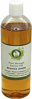 R V Essential Mostaza puro aceite del portador de 100ml (3.38 oz)- Brassica Juncea (100% puro y natural Fría presionado) Pure Mustard Carrier Oil