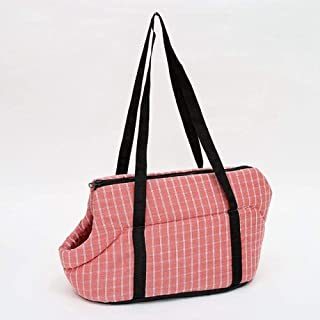 MAOSHE Pet Bag, 1pc Dogs Cats Carrying Handbags Outside Travel Puppy Cats Carrying Plaid Shoulder Bags Breathable Dog Carr...