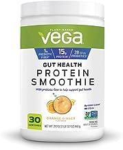 Vega Gut Health Protein Smoothie Orange Ginger Flavored Drink Mix Net Wt 29.9 Ounce