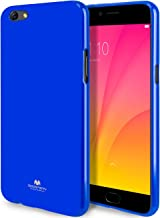 GOOSPERY Marlang Marlang Oppo R9S Plus Case - Navy Blue, Free Screen Protector [Slim Fit] TPU Case [Flexible] Pearl Jelly [Protection] Bumper Cover for Oppo R9S Plus, OPPOR9SP-JEL/SP-NVY