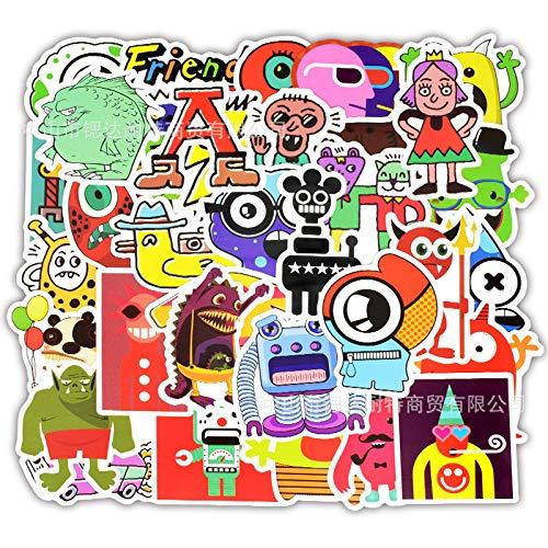 XXCKA 50 Little Monster Cartoon Doodle Elements Car Sticker Box Refrigerador Guitarra Scooter Etiqueta de la computadora
