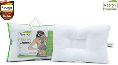 Recron Certified Dr. Ortho Fibre Pillow - 41 cm x 61 cm, White