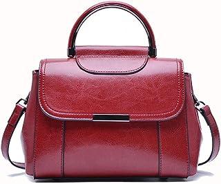 女性の通勤トートバッグ野生のファッション女性のショルダーの対角線のファッションハンドバッグ クロスボディバッグガールズメッセンジャーバッグ (色 : 赤)