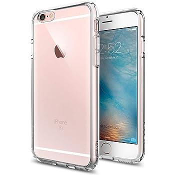 Spigen Ultra Hybrid Kompatibel mit iPhone 6S/6 Hülle, Einteilige Transparent Durchsichtige PC Rückschale Schutzhülle Case Crystal Clear SGP11598
