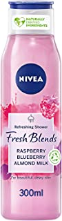NIVEA Fresh Blends Refreshing Shower Gel, Raspberry Blueberry Almond Milk, 300ml, 85583