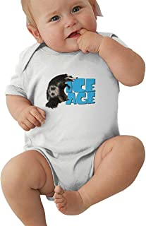 Wokeyia Ice Age Comfortable Romper Short Sleeve Jersey Bodysuit for Children Onesies Black