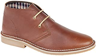 Mens Check Lined 2 Eye Desert Boots