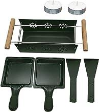 Piasnhaoah4 Raclette à la Bougie, Mini Raclette Set, Raclette à Fromage Antiadhésive Portable Rotaster Plateau De Cuisson ...