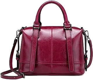 Black/Brown/Pink Women's Bag Autumn And Winter Fashion Leather Handbags Europe And America Wild Women's Shoulder Bag Messenger Bag Handbag 28 * 13 * 21 (cm). jszzz (Color : Pink)