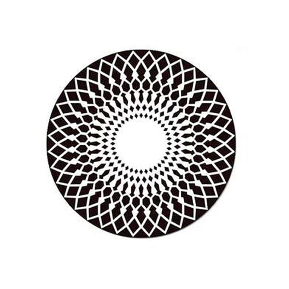 対人何かアラブカーペット中国の間の北欧のファッション黒と白の丸いカーペットリビングルームのコーヒーテーブルカーペットベッドルームスタディクラブハウス SHWSM (色 : ブラック, サイズ さいず : 100cm Diameter)