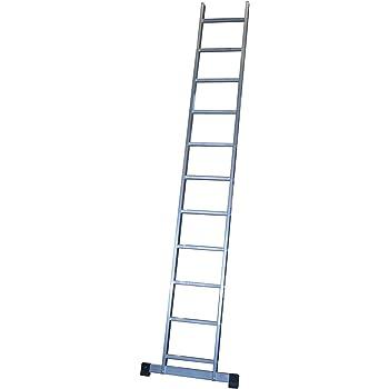 Escalera profesional de aluminio de apoyo simple con barra ...