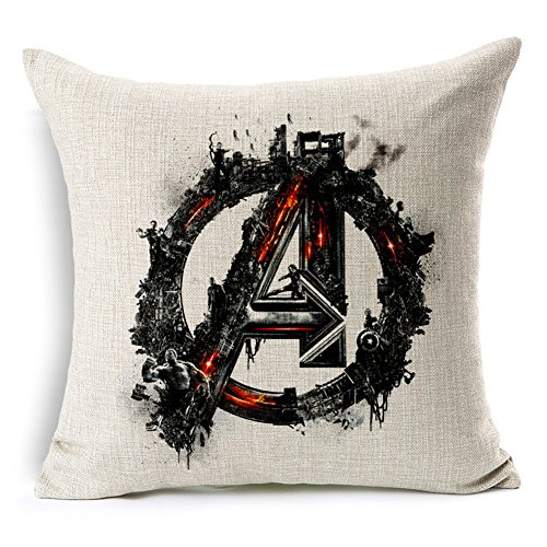Poens Dream Cuscino, Avenger of Age Ultron Cotton Linen 17.7inch Square Decorative Throw Pillow Case Cushion Cover