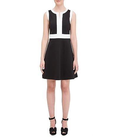 Kate Spade New York Contrast Panel Ponte Dress (Black) Women