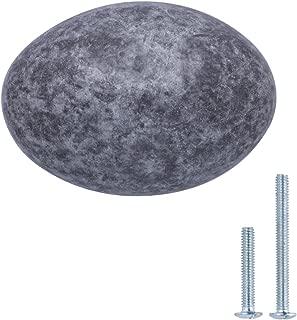 "AmazonBasics Football Cabinet Knob, 1.38"" Diameter, Antique Silver, 10-Pack"