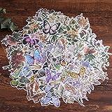 Pegatinas para álbumes de recortes, Lychii 240 pegatinas de papel para decoración con plantas y flores naturales, pegatinas adhesivas de diseño vintage para álbumes de recortes, calendarios
