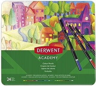 Derwent Academy Colouring Pencils, Set of 24, Tin Box, 2301938