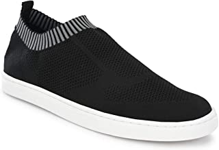 Parx Solid Black Coloured Synthetic Sneaker