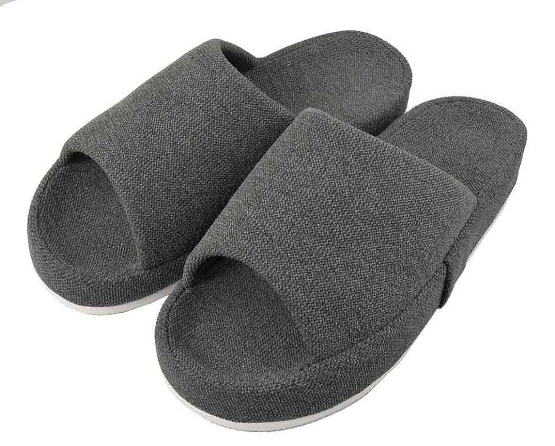 通訳ほめる日焼けファイン スリッパ 脚美人 適応サイズ22.5~24.0cm グレー 女性用 O脚サポート FIN-637GL
