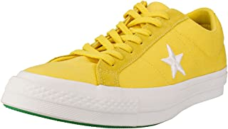 Converse One Star Ox Mens Trainers Gold Green - 7.5 UK
