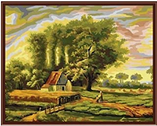 Superlucky Superlucky Superlucky Village Landscape Picture Painting by Numbers DIY Digital Canvas Oil Painting Home Decor for Living Room Wall Art 40x50cm Mit Rahmen B07JVLCSS3  Jugend eaec74