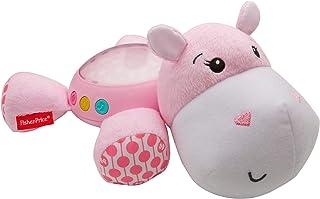 Fisher-Price - Hipopótamo dulces sueños rosa, juguete de cuna bebé (Mattel FGG89)