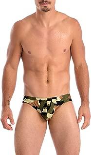Mens Print Contour Pouch Bikini Swimsuit