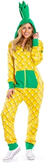 Comfy Women's Pineapple Costume for Halloween - Cute Pineapple Onesie Jumpsuit for Women