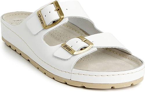 Batz ZENNA Léger et Flexible Sandales Sandales Sandales Sabots Mules Chaussons Chaussures de Qualité Supérieure en Cuir Femme 4ac
