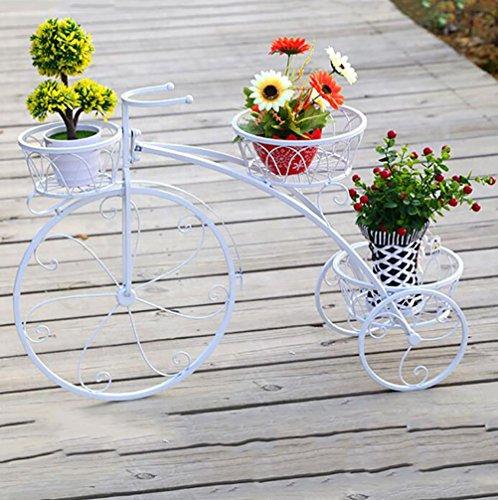 Soporte de la flor Soporte de la planta Maceta de macetero Estante de exhibición Bodegas Soporte de madera de la planta Bicicleta El balcón Sala de estar Múltiples funciones-E 44x60cm(17x24inch)