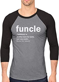 Tstars Funny Uncle Funcle Definition Gift for Uncles 3/4 Sleeve Baseball Jersey Shirt